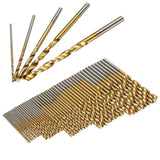 50PCS HSS Titanium Coated Twist Drill Bits High Speed Steel Drill Bit Set BRONZE Hand Tools