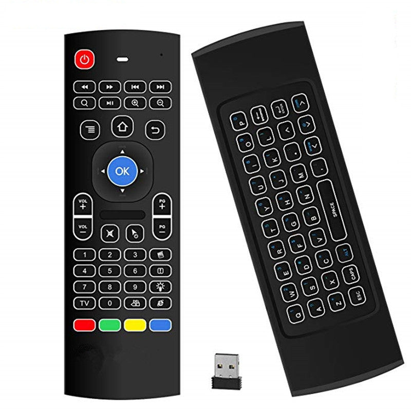 Android TV Box Wireless Remote Control Keyboard Air Mouse 2.4ghz for KODI PC TV BLACK Other Audio & Video Accessories