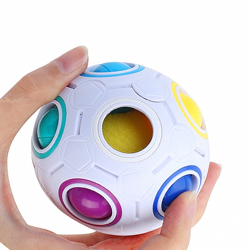 Football Cube Magic Rainbow Ball Puzzle Relief Toys