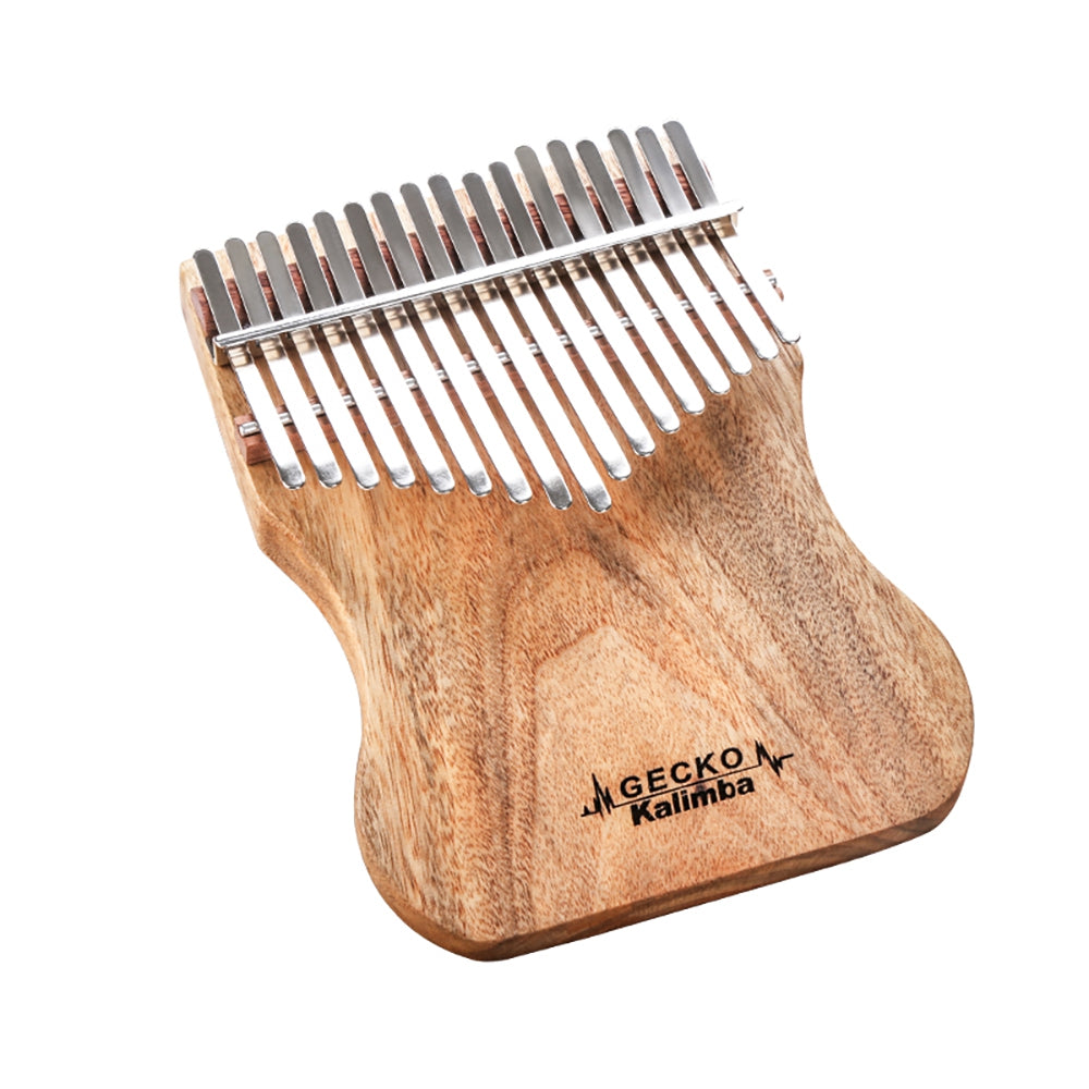 GECKO Kalimba 17 Keys Camphor Wood with Instruction and Tune Hammer