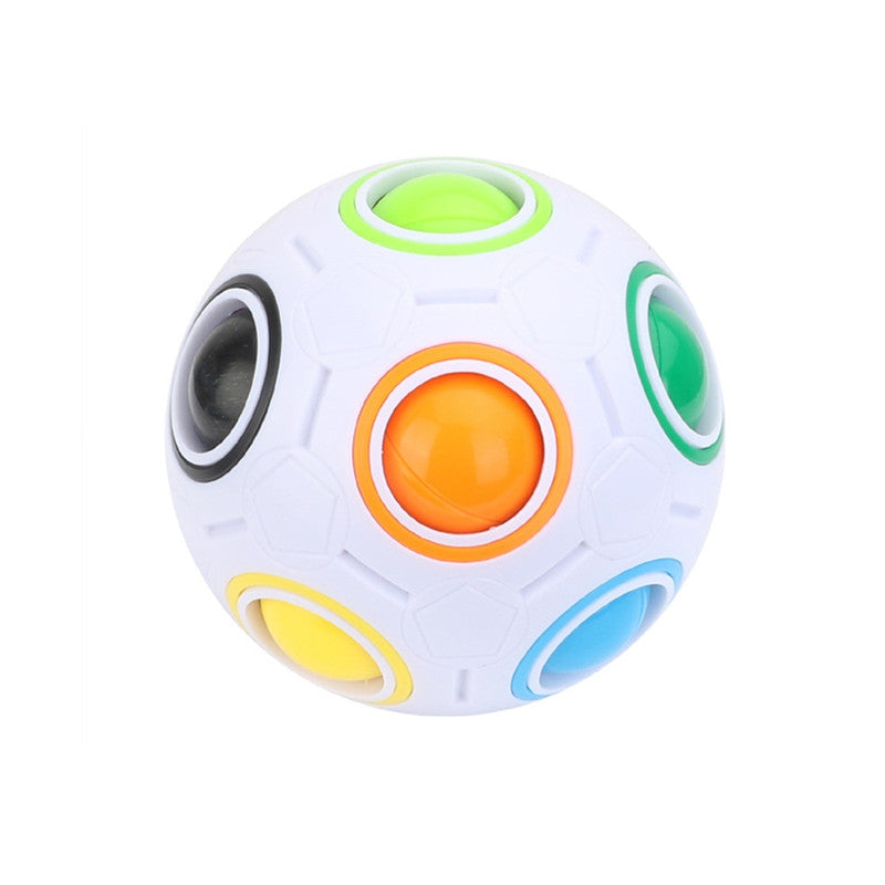 Football Cube Magic Rainbow Ball Puzzle Relief Toys MULTI Puzzles & Magic Cubes