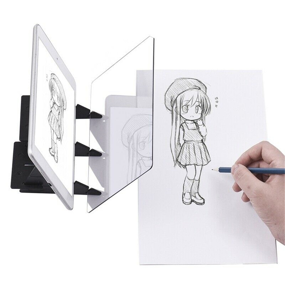 Led Projection Optical Drawing Board Sketch Specular Reflection Dimming BLACK Drawing Toys