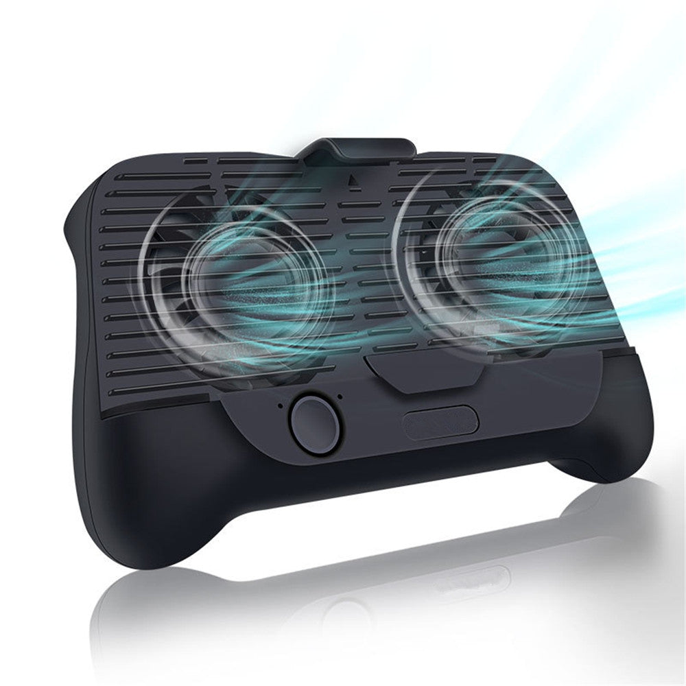 4 in 1 Mobile Phone Dual Cooling Fan Radiator Handle Gamepad Joystick Holder BLACK Game Controllers