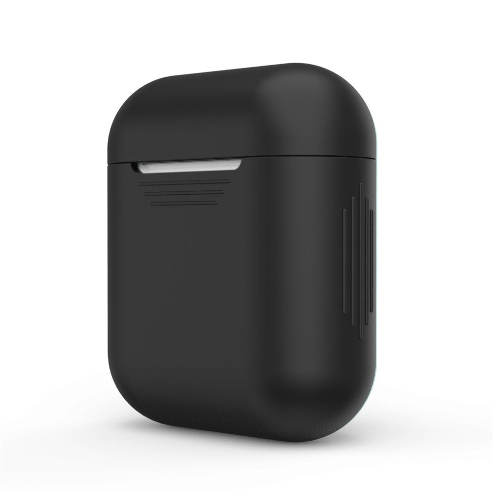Luxury Protective Silicone Cover and Skin for Apple Airpods Charging Case BLACK Earphone Accessories