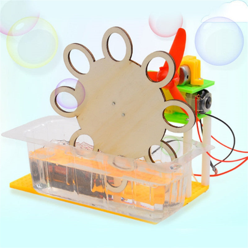DIY Electric Bubble Machine Children Science Education Toy