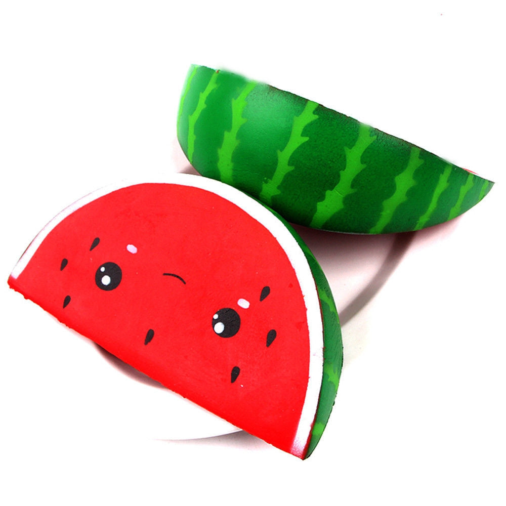 Jumbo Squishy Smile Watermelon Cream Squeeze Slow Rising Decompression Toy