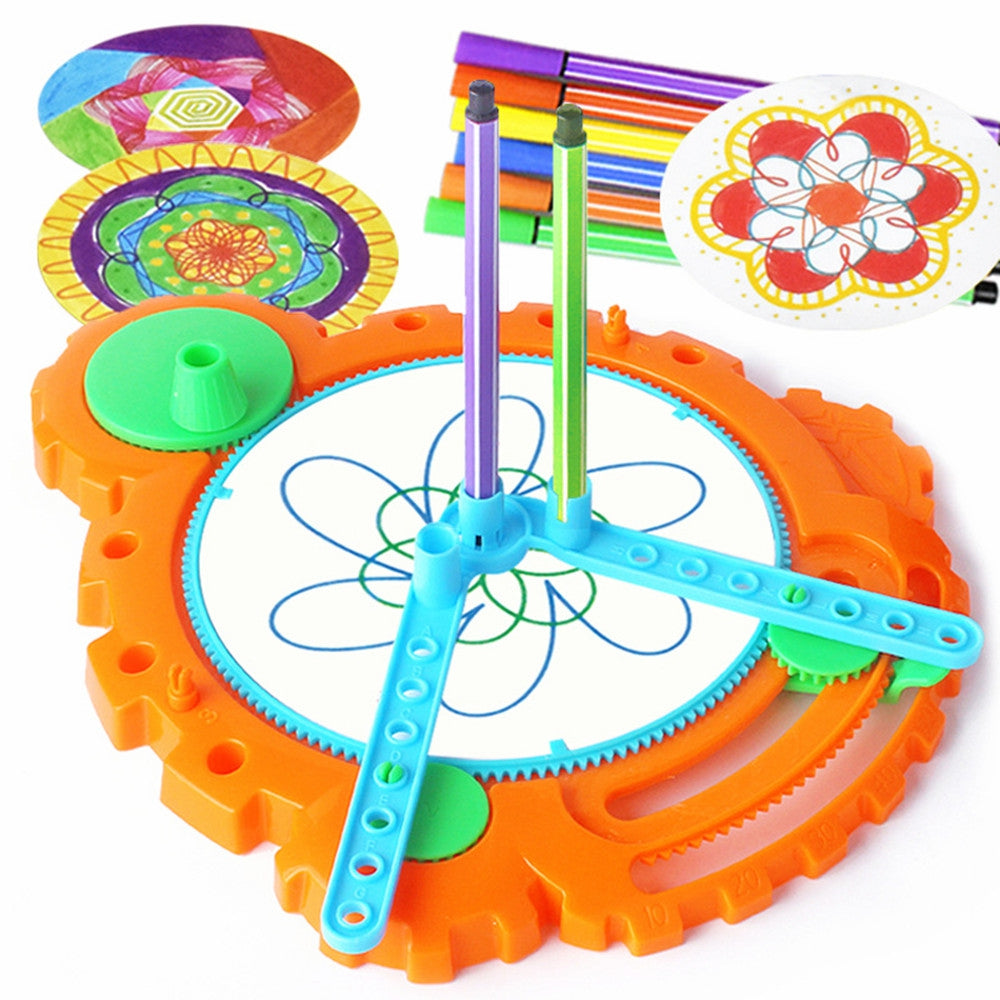 Creative Magic Flower Ruler Doodling Toy MULTI-A Other Classic Toys