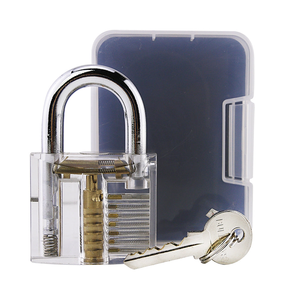 LOCKMALL Locksmith Pick Skill Training Practice Padlock TRANSPARENT Hand Tools