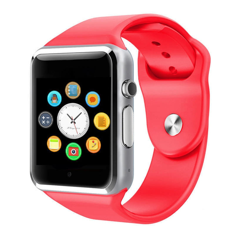 NEW A1 Smart Watch Support SIM TF Card Bluetooth Call Pedometer Sport Smartwatch RED Watches