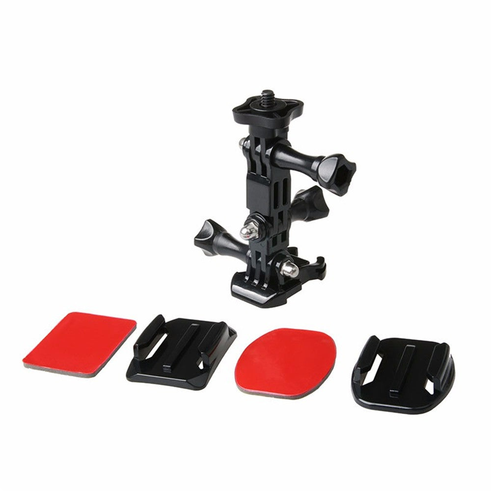 Action Camera Helmet Tripod Mounts for GoPro Hero 5 / 4 / 3 / Xiaomi Yi 4K Set BLACK Other Camera Accessories