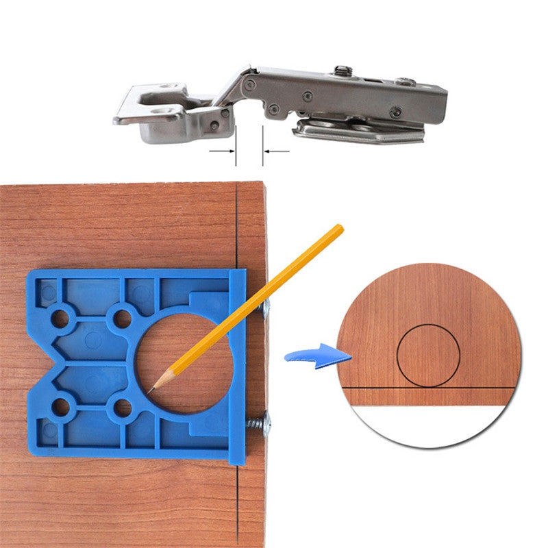 Auxiliary Tools for Punching and Installation of Woodworking Hinges BLUE Hand Tools