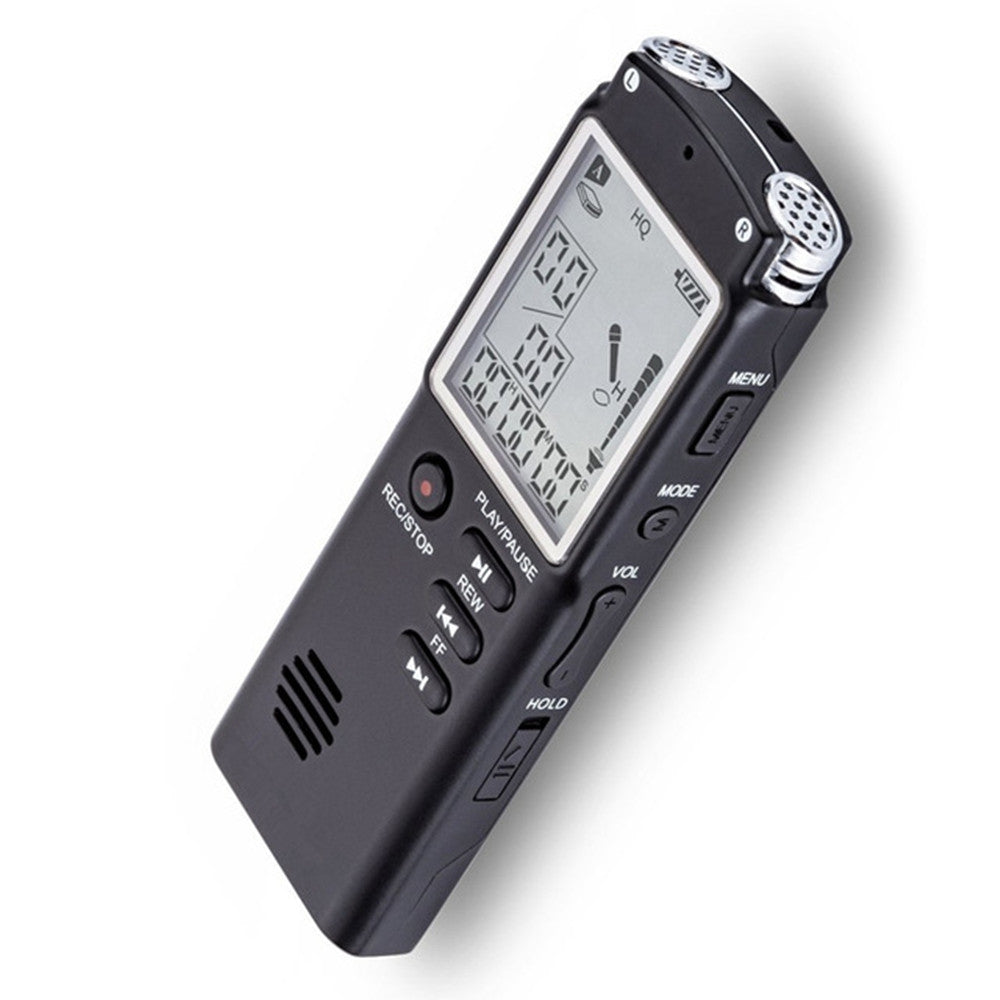 16GB Voice Recorder USB Professional Dictaphone Digital Audio with MP3 Player BLACK MP3 Players