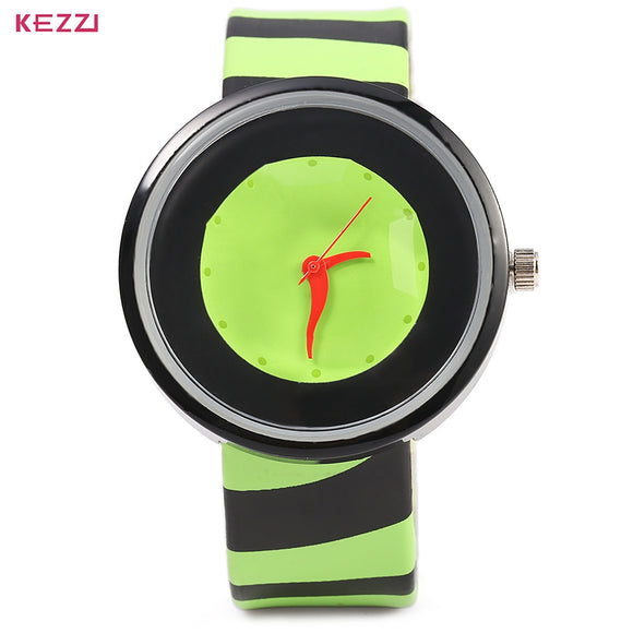 KEZZI 654 Women Quartz Watch Zebra Stripe Band Fashional Wristwatch