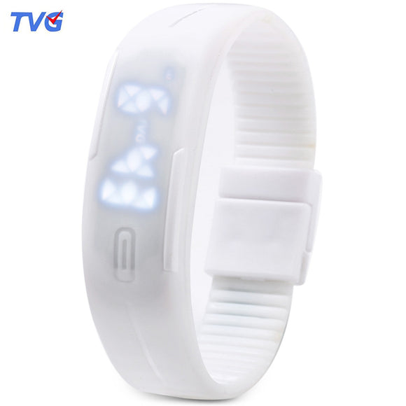 TVG KM - 520A Unisex Digital Watch LED Display Calendar Magnetic Sport Wristwatch