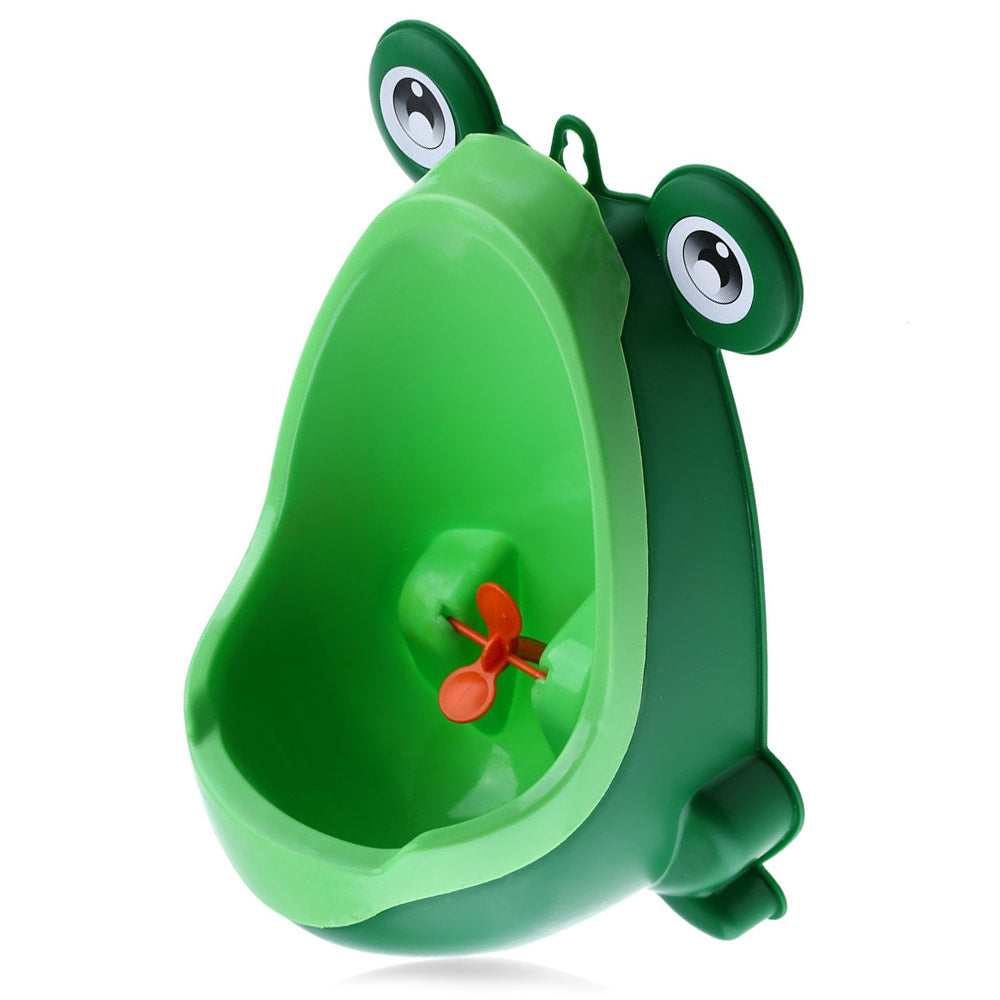 Wall - hanging Children Standing Urinal Separation Strong Sucker Toilet Training with Rotation Fan for Boy GREEN Other Baby Toys