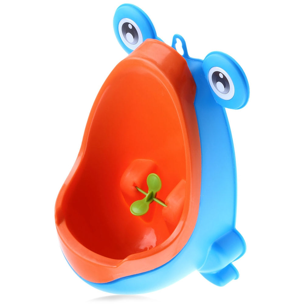 Wall - hanging Children Standing Urinal Separation Strong Sucker Toilet Training with Rotation Fan for Boy BLUE Other Baby Toys