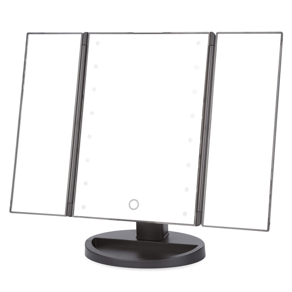 Portable Folding Table 16 LEDs Lamp Luminous Cosmetic Mirror
