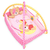 Baby Mat Bear Folding Gym Blanket with Frame Rattle Crawling Toy