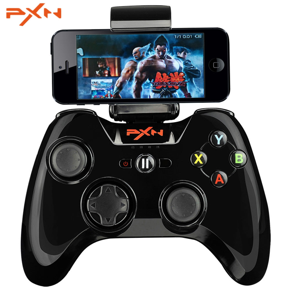PXN - 6603 MFi Certified Wireless Bluetooth Game Controller Portable Joystick Vibration Handle Gamepad for iPhone / iPad / iPod Touch / Apple TV BLACK Game Controllers