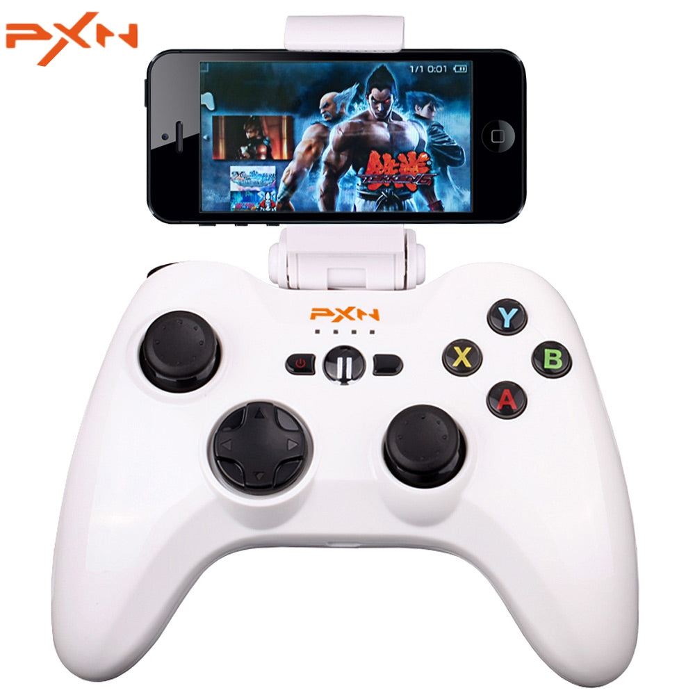 PXN - 6603 MFi Certified Wireless Bluetooth Game Controller Portable Joystick Vibration Handle Gamepad for iPhone / iPad / iPod Touch / Apple TV WHITE Game Controllers
