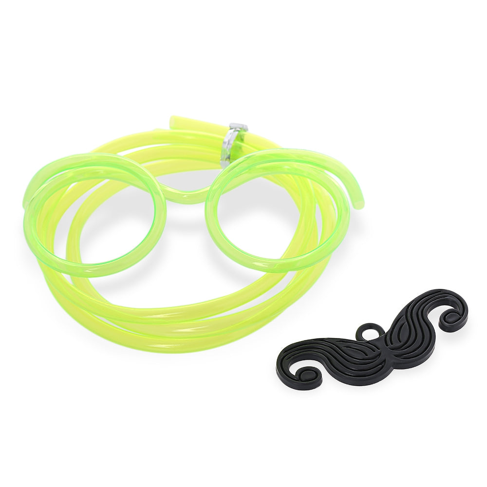 Funny DIY Drinking Glasses Straw with Mustache for Party GREEN Other Classic Toys