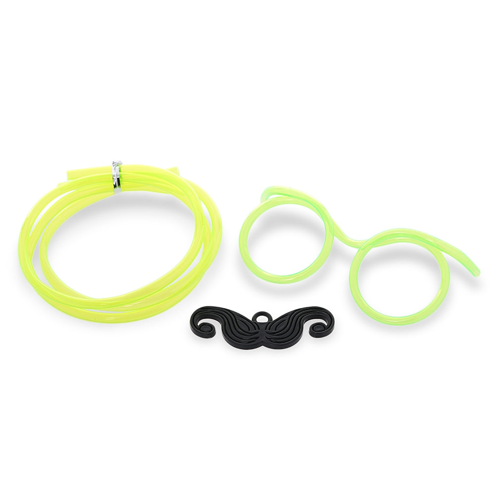 Funny DIY Drinking Glasses Straw with Mustache for Party