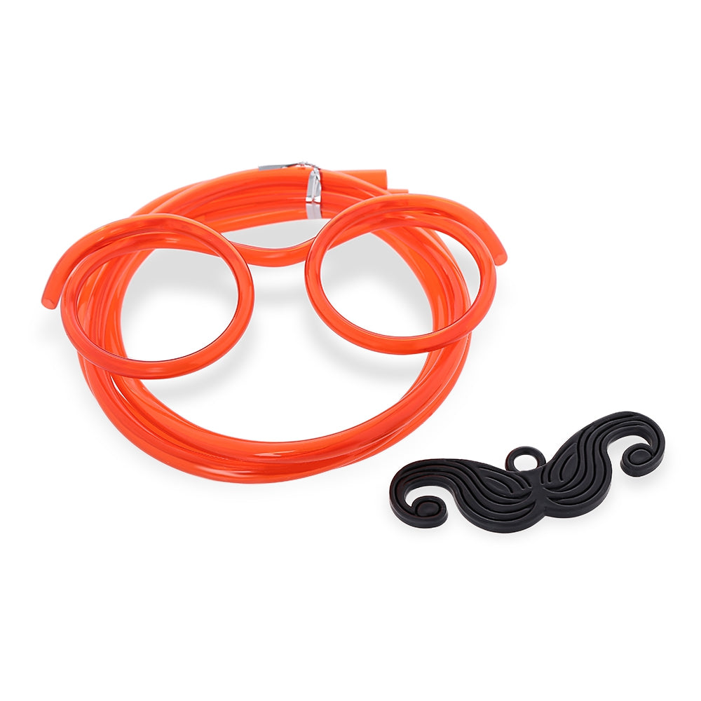 Funny DIY Drinking Glasses Straw with Mustache for Party RED Other Classic Toys