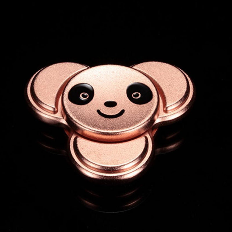 Panda Pattern Metal Finger Gyro Stress Relief Toy 6*6CM ROSE GOLD Fidget Spinners
