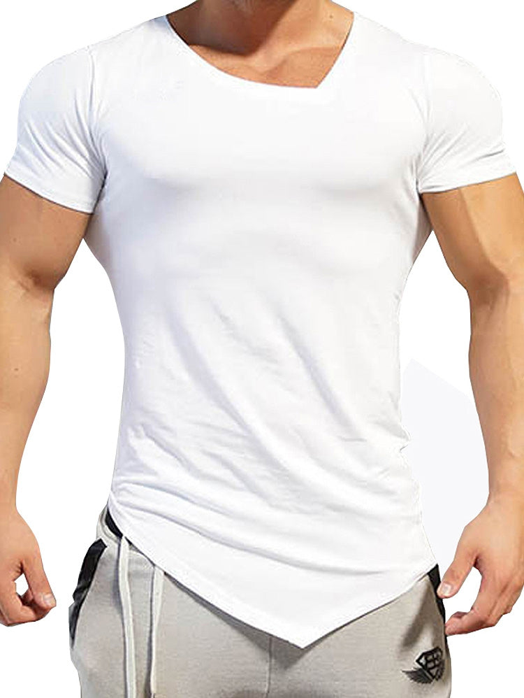 V Neck Asymmetric T-Shirt