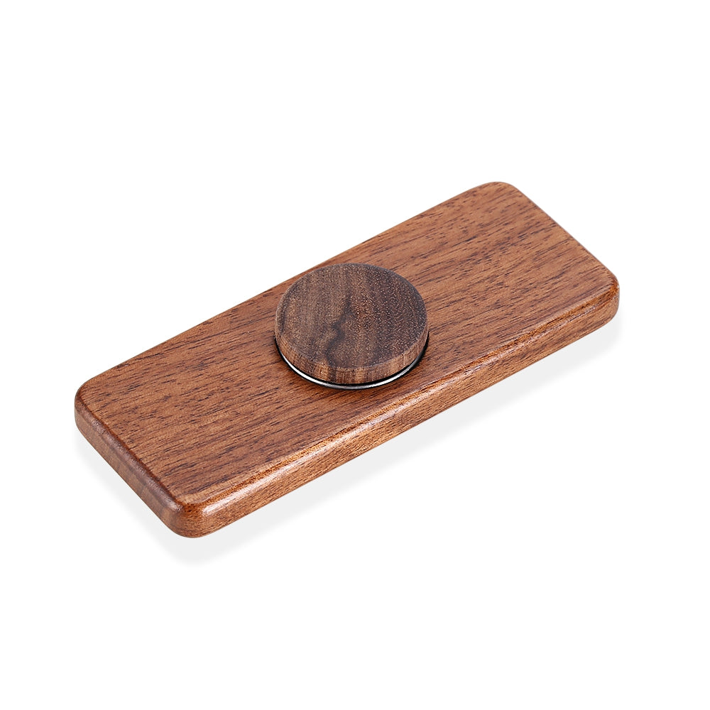 Square Walnut Hand Spinner Steel Bearings Finger Toy