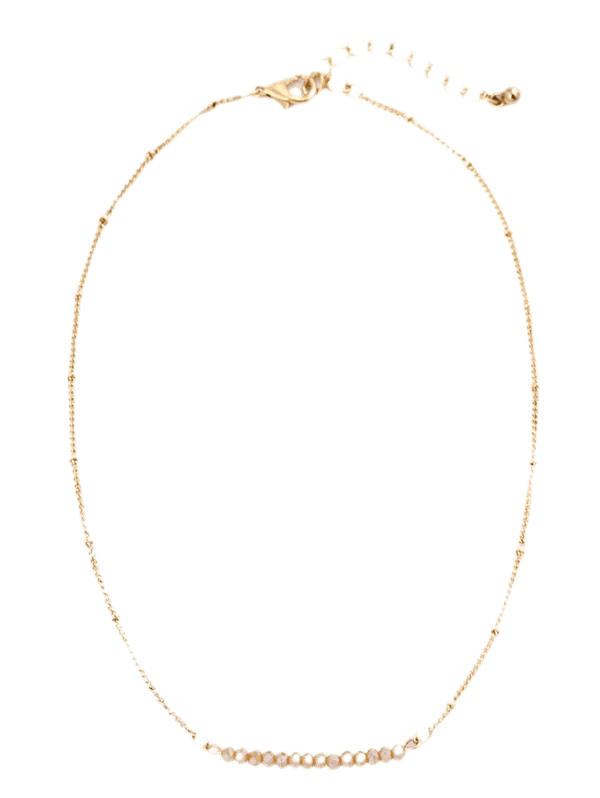 Beaded Chain Collarbone Necklace