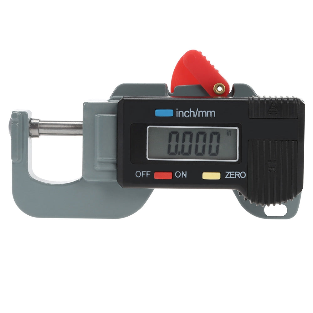 0 - 12.7 mm LCD Digital Thickness Gauge for Jewelry BLACK Measuring Tools