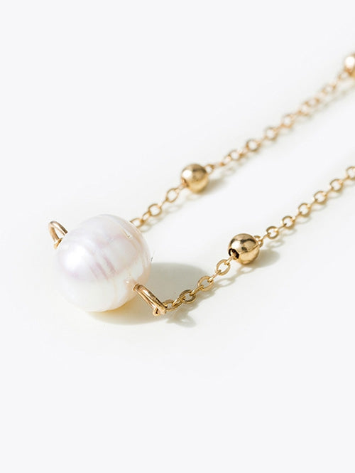 Faux Pearl Collarbone Necklace
