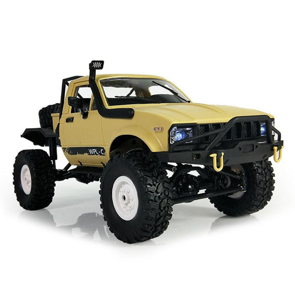 WPL C14 1:16 2.4G 2CH 4WD Mini Off-road RC Semi-truck with Metal Chassis / TPR Tires / 15km/h Top Speed KIT RED RC Cars