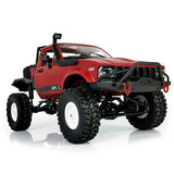 WPL C14 1:16 2.4G 2CH 4WD Mini Off-road RC Semi-truck with Metal Chassis / TPR Tires / 15km/h Top Speed RTR RED RC Cars