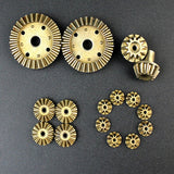 Metal Gears for WLtoys 12428 / 12428 - A / 12428 - B / 12428 - C / 12423 RC Car 2 Sets ORANGE GOLD RC Toy Parts & Accessories