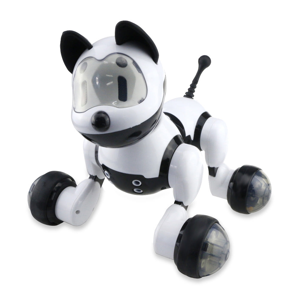 MG010 Voice Control Free Mode Sing Dance Smart Dog Robot BLACK Other RC Toys