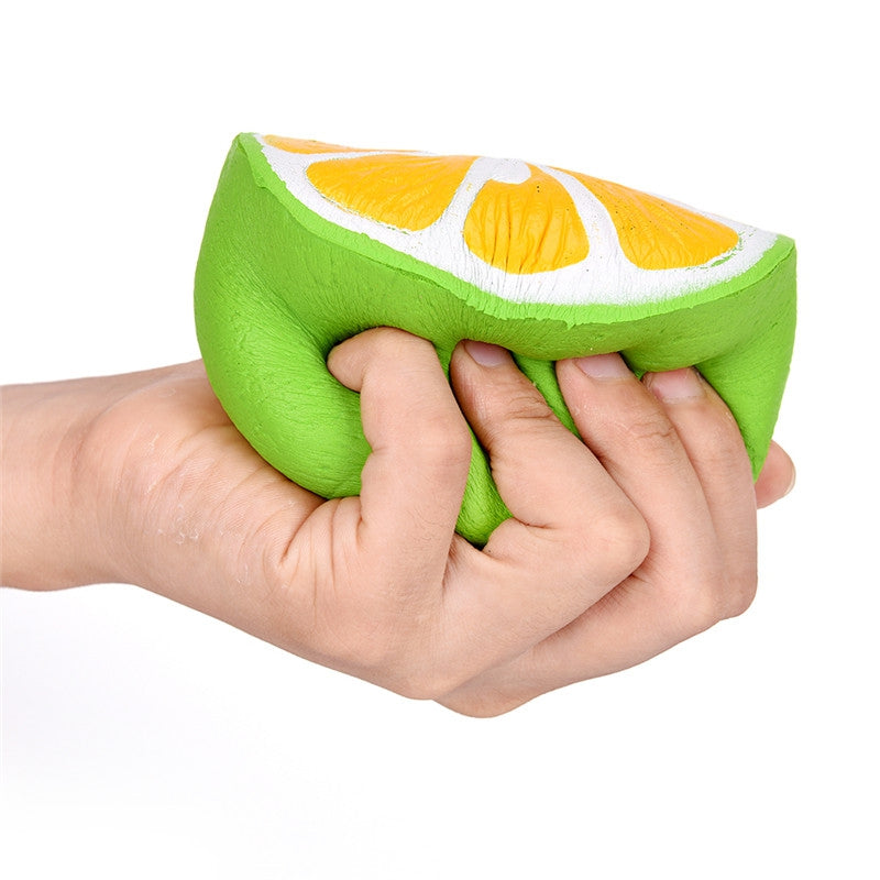 Jumbo Squishy Soft Simulation Half Lemon Charm Exquisite Package Scented Toy GREEN Squishy Toys