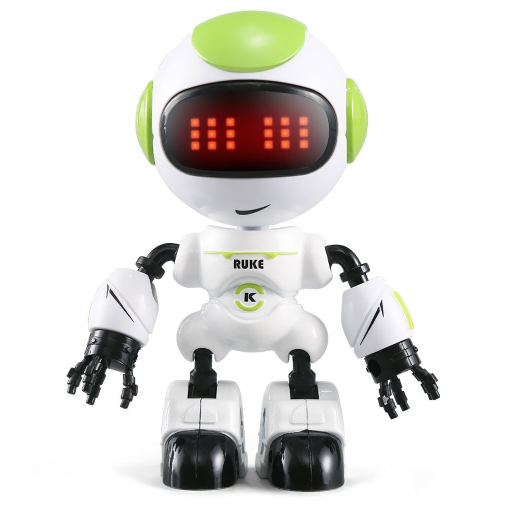 JJRC R8 Touch Sensing LED Eyes RC Robot Smart Voice DIY Body Gesture Model Toy CHARTREUSE RC Robots
