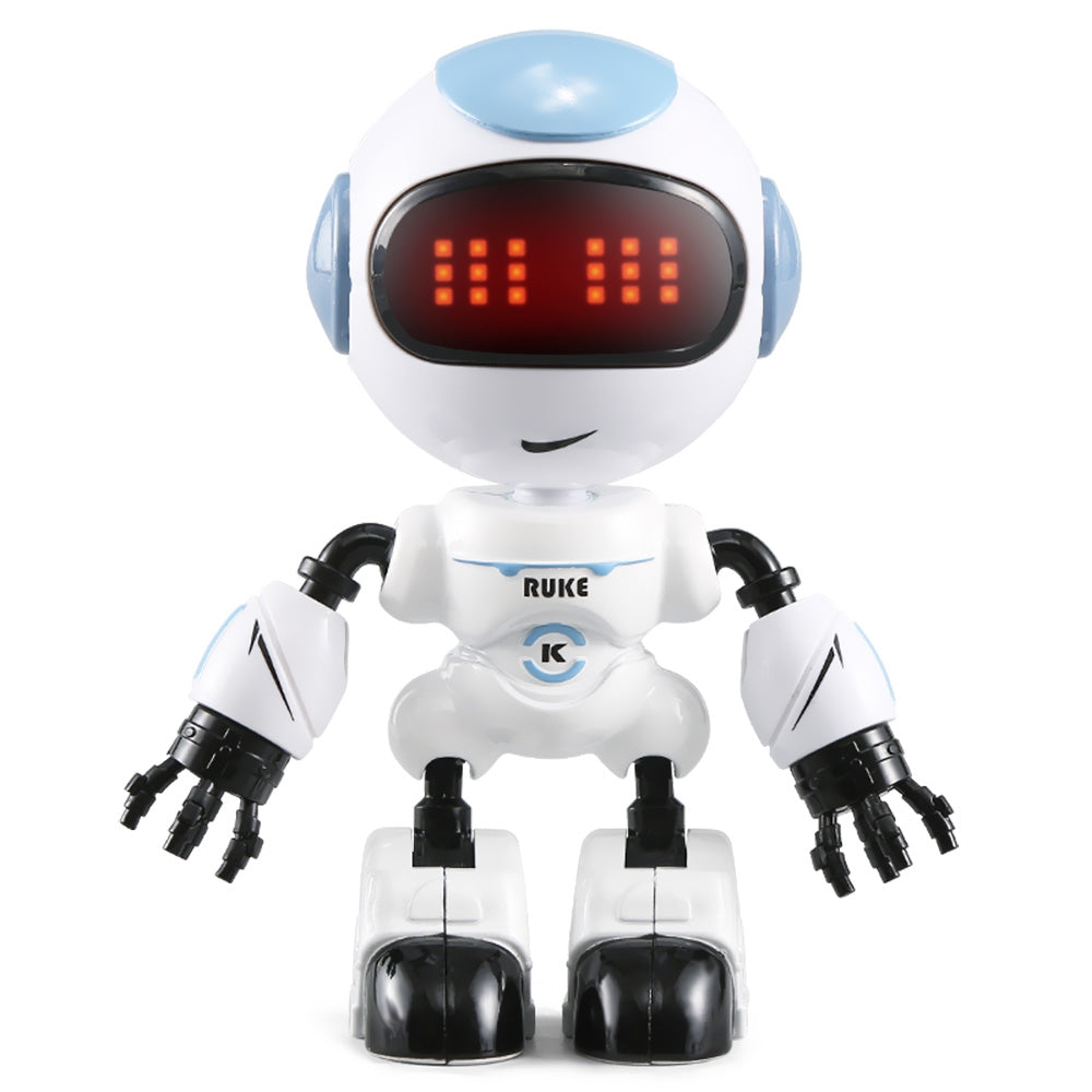 JJRC R8 Touch Sensing LED Eyes RC Robot Smart Voice DIY Body Gesture Model Toy DENIM BLUE RC Robots
