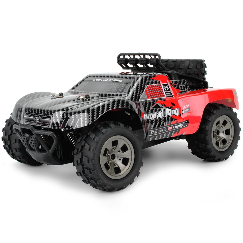 1885 - B 2.4G 1/18 18km/h Drift RC Off-road Car Desert Truck RTR Toy Gift RED RC Cars