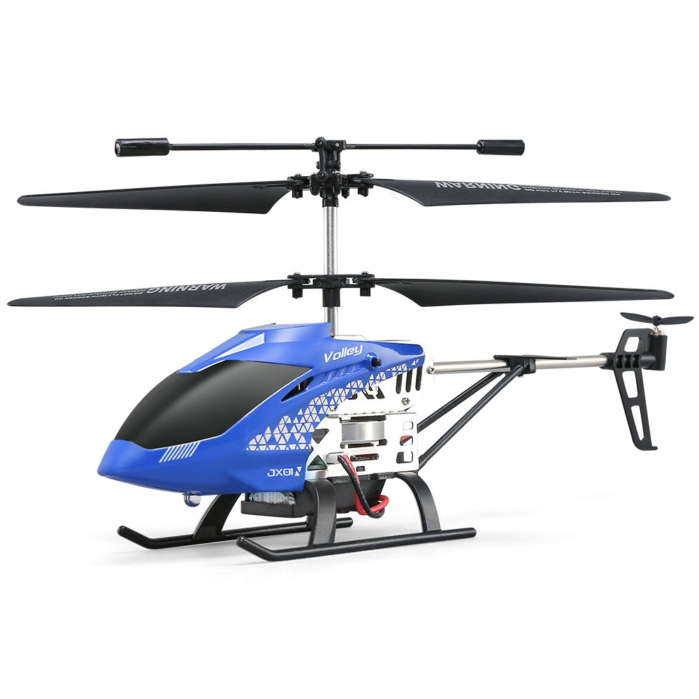 JJRC JX01 RC Helicopter Barometer Altitude Hold Strong Power Aluminum Alloy Construction BLUE RC Helicopters