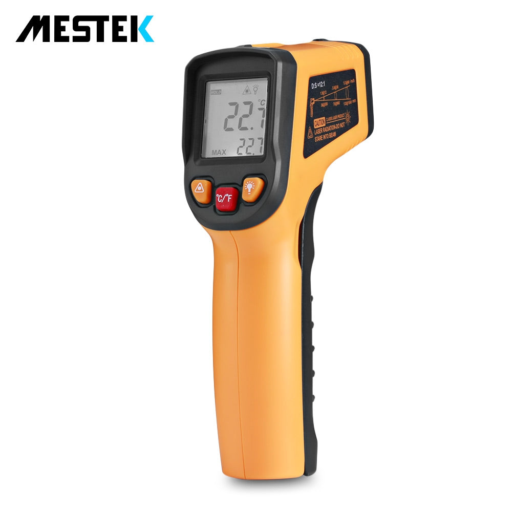 MESTEK MT550 Digital Non-contact Infrared Thermometer with LCD Display YELLOW Measuring Tools