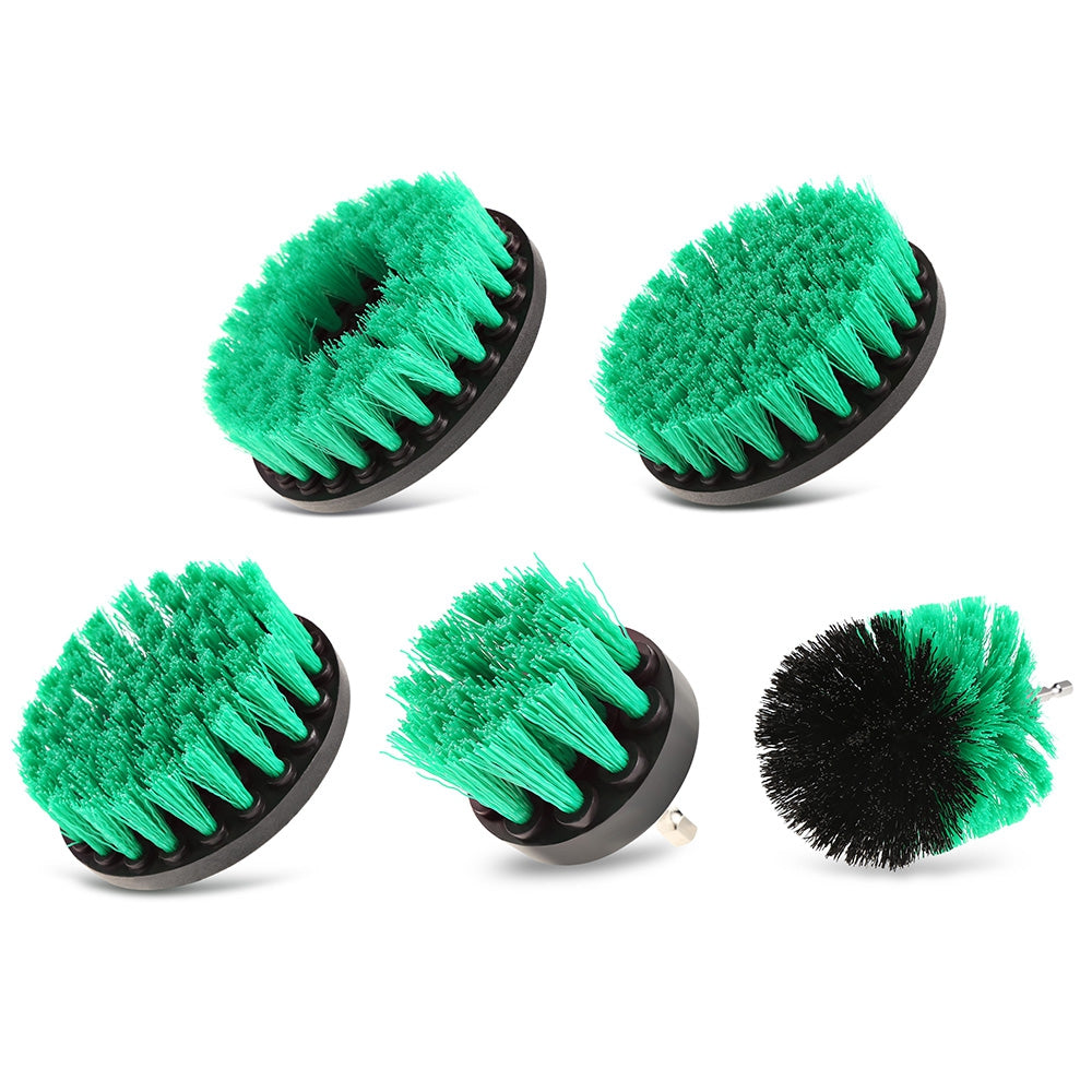 5PCS Electric Drill Cleaning Nylon Brush GREEN Hand Tools
