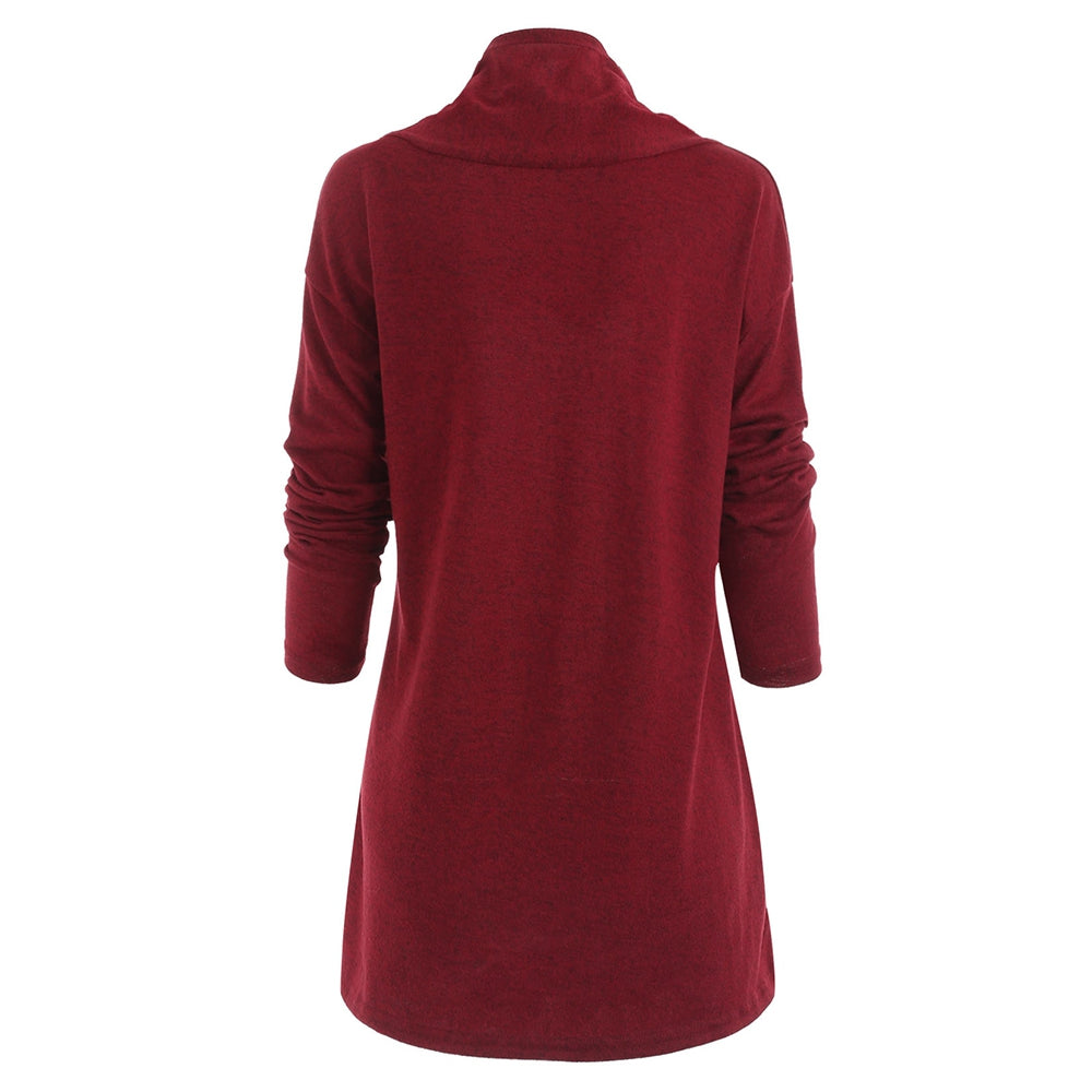 Shawl Collar Tunic Knitwear