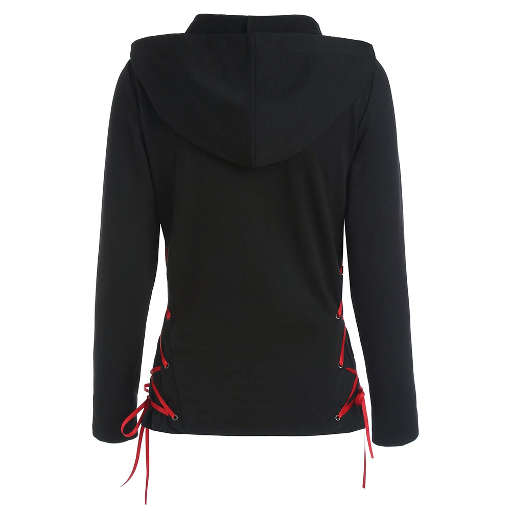 Criss Cross Zip Up Hoodie