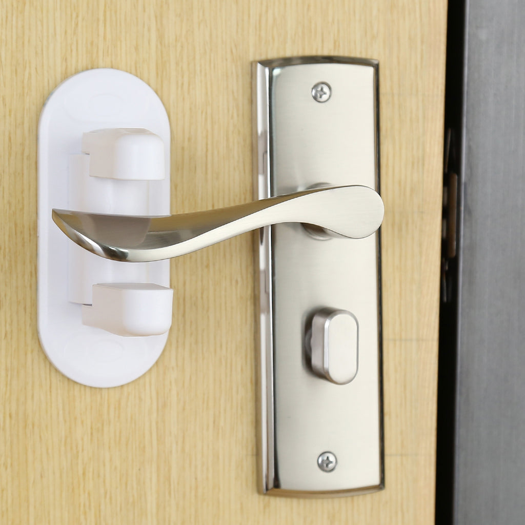 4PCS LETING Door Lever Safety Locks with Strong Adhesive for Baby / Child / Pet