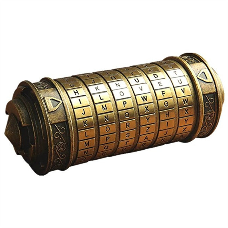 Da Vinci Code Mini Cryptex Valentine's Day Interesting Creative Romantic Birthday Gift REGULAR CHAMPAGNE GOLD Puzzles