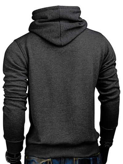 Whole Colored Drawstring Casual Hoodie Men's Hoodies & Sweatshirts CAMEL BROWN L