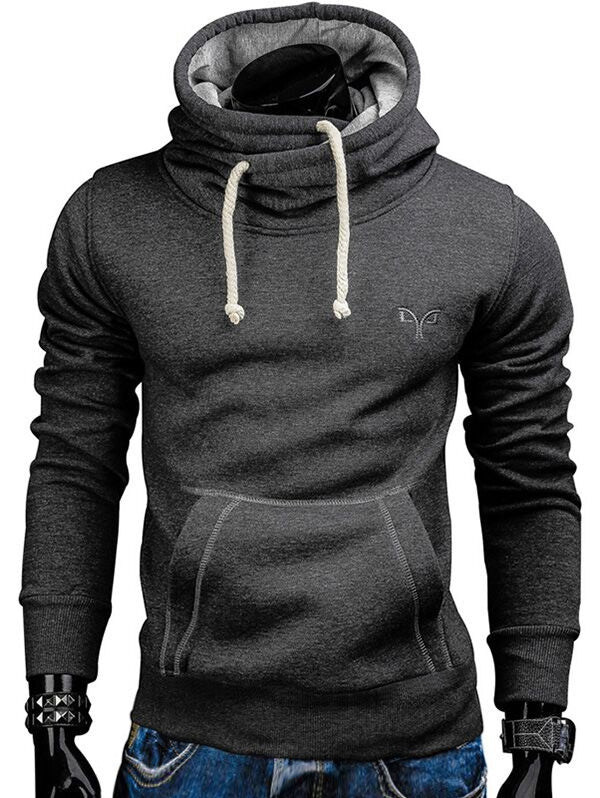Whole Colored Drawstring Casual Hoodie Men's Hoodies & Sweatshirts RED WINE 2XL